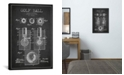 """iCanvas Golf Ball Charcoal Patent Blueprint by Aged Pixel Wrapped Canvas Print - 60"""" x 40"""""""