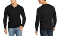 Club Room Men's Henley Merino Wool Blend Sweater, Created for Macy's