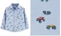 Carter's Toddler Boys Monster Truck-Print Button-Front Cotton Shirt