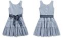 Polo Ralph Lauren Little Girls Striped Cotton Dobby Dress