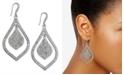 INC International Concepts INC Silver-Tone Crystal Pavé Double Teardrop Drop Earrings, Created For Macy's