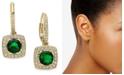 Eliot Danori Cubic Zirconia & Glass Drop Earrings, Created For Macy's