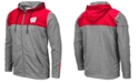 Colosseum Men's Wisconsin Badgers Nelson Full-Zip Hooded Sweatshirt