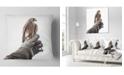 "Design Art Designart Kestrel Sitting On Falconer Hand Abstract Throw Pillow - 18"" X 18"""