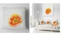 "Design Art Designart Beautiful Yellow Watercolor Flower Floral Throw Pillow - 18"" X 18"""