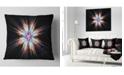 "Design Art Designart Abstract Flowers On Black Background Flower Throw Pillow - 16"" X 16"""