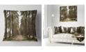 """Design Art Designart Date Palm Plantation Photography Modern Forest Throw Pillow - 16"""" X 16"""""""
