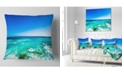 "Design Art Designart Seashore With Clear Water And Sky Modern Seashore Throw Pillow - 18"" X 18"""