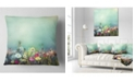 "Design Art Designart Dandelion Poppy And Daisy Flowers Floral Throw Pillow - 18"" X 18"""