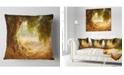 "Design Art Designart Beautiful Old Olive Tree Landscape Printed Throw Pillow - 18"" X 18"""