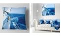 "Design Art Designart Tourism Yacht Sailing In Blue Sea Seashore Throw Pillow - 16"" X 16"""