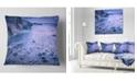 "Design Art Designart Calm Time Lapse On Beach At Sunset Seashore Throw Pillow - 16"" X 16"""