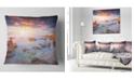 "Design Art Designart Sunrise On South Coast Of Sicily Seashore Photo Throw Pillow - 18"" X 18"""