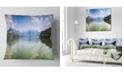 "Design Art Designart Kastoria Lake Greece Panorama Landscape Printed Throw Pillow - 16"" X 16"""