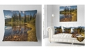 """Design Art Designart Bright Clear Day And Clear Lake Landscape Printed Throw Pillow - 18"""" X 18"""""""