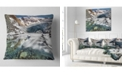 """Design Art Designart Cave In Rugged Rocky Setting Landscape Printed Throw Pillow - 16"""" X 16"""""""
