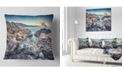 "Design Art Designart Rocky Reservoir In Monte Cofano Landscape Printed Throw Pillow - 16"" X 16"""