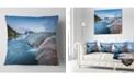 "Design Art Designart Midway Geyser Basin In Yellowstone Seashore Throw Pillow - 18"" X 18"""