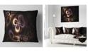 "Design Art Designart Glowing Small Fractal Flowers Abstract Throw Pillow - 16"" X 16"""