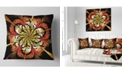 "Design Art Designart Dark Yellow Orange Fractal Flower Abstract Throw Pillow - 16"" X 16"""