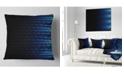 """Design Art Designart Blue Symmetrical Fractal Flower Abstract Throw Pillow - 16"""" X 16"""""""