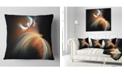 "Design Art Designart Brown Floating Fractal Designs Abstract Throw Pillow - 18"" X 18"""