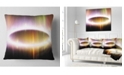 """Design Art Designart Large Oval Of Northern Lights Abstract Throw Pillow - 16"""" X 16"""""""
