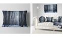 "Design Art Designart Thick Woods In Winter Forest Modern Forest Throw Pillow - 12"" X 20"""