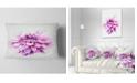 """Design Art Designart Beautiful Pink Watercolor Flower Floral Throw Pillow - 12"""" X 20"""""""