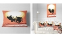 "Design Art Designart Birds At Sunset Vector Drawing Abstract Throw Pillow - 12"" X 20"""