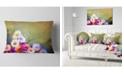 """Design Art Designart White Sunflower And Gerbera Flowers Floral Throw Pillow - 12"""" X 20"""""""