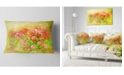 "Design Art Designart Colorful Spring Garden With Flowers Floral Throw Pillow - 12"" X 20"""