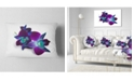 "Design Art Designart Deep Purple Orchid Flowers On White Flowers Throw Pillowwork - 12"" X 20"""