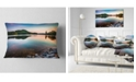 "Design Art Designart Lake Allatoona At Red Top Mountain Seashore Throw Pillow - 12"" X 20"""
