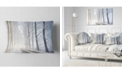"Design Art Designart Winter Rural Road On Misty Morning Forest Throw Pillow - 12"" X 20"""