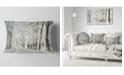"Design Art Designart Winter Road In Dense Foggy Forest Forest Throw Pillow - 12"" X 20"""