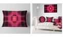 "Design Art Designart Pink Thermal Infrared Visor Abstract Throw Pillow - 12"" X 20"""