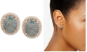 lonna & lilly Gold-Tone Oval Stone Stud Earrings