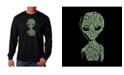 LA Pop Art Men's Word Art Long Sleeve T-Shirt- Area 51