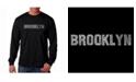 LA Pop Art Men's Word Art Long Sleeve T-Shirt- Brooklyn Neighborhoods