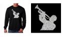 LA Pop Art Men's Word Art Long Sleeve T-Shirt- All Time Jazz Songs