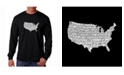 LA Pop Art Men's Word Art Long Sleeve T-Shirt - The Star Spangled Banner