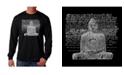LA Pop Art Men's Word Art Long Sleeve T-Shirt - Zen Buddha