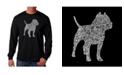 LA Pop Art Men's Word Art Long Sleeve T-Shirt - Pit bull