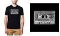 LA Pop Art Men's Premium Word Art T-Shirt - The 80's