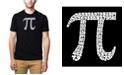 LA Pop Art Men's Premium Word Art T-Shirt - 100 Digits of Pi