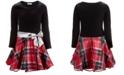 Bonnie Jean Big Girls Velvet Plaid Dress