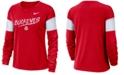 Nike Women's Ohio State Buckeyes Breathe Long Sleeve T-Shirt