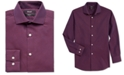 DKNY Big Boys Skinny-Fit Burgundy Neat Dobby Dress Shirt