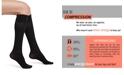 Hue Women's Graduated Compression Opaque Knee High Socks
